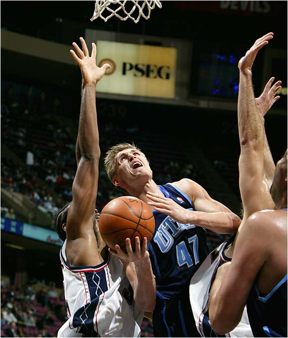 Drafted when he was 18, Kirilenko made his NBA debut two years later with the Jazz and quickly established himself as one of the game's most versatile players. Able to play both forward positions, Kirilenko can swipe, block, rebound and jump with the best of them, and he's made a successful career out of filling up the box score. AK-47's breakout season came in 2003-04, when he lead Utah in points, rebounds, blocks, steals, three-pointers and minutes -- and the 25-year-old is still a few years away from his prime.