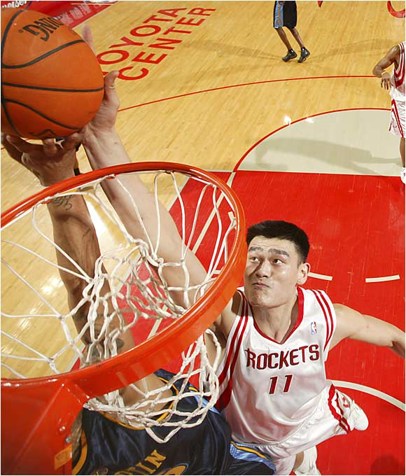 Few other players have had to overcome as much as Yao has in his four-year NBA career. Faced with cultural and language conflicts, he has ascended to the top of the NBA's pivot ranks in astonishing fashion. Projected to play as anything between the next Shawn Bradley and the next Bill Walton, Yao has settled in comfortably as one of the league's most dominant centers, averaging 17.5 points and 8.8 rebounds in just 31 minutes a game over his four-year career.