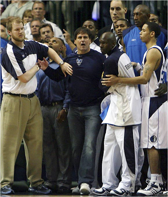 Wherever the Dallas Mavericks are, Mark Cuban is inevitably at the center of it all. The boisterous billionaire railed against officials, and -- according to some reports -- David Stern and the league itself before applauding the Heat at the end of Game 6.