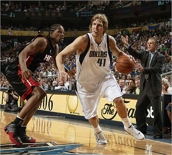 Dirk Nowitzki did a little bit of everything in leading his Mavs to a 99-85 Game 2 win. The 7-footer scored 26, grabbed 16 rebounds and swatted two shots.