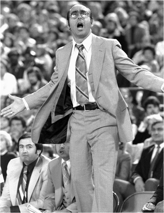 A year after leading the University of Detroit to the 1977 NCAA tournament, Vitale took over the Pistons and had a less-than-successful 30-52 record in the 1978-79 season. Luckily for ESPN, Dickie V was fired 12 games into the 1979-80 season, clearing the way for his television career.