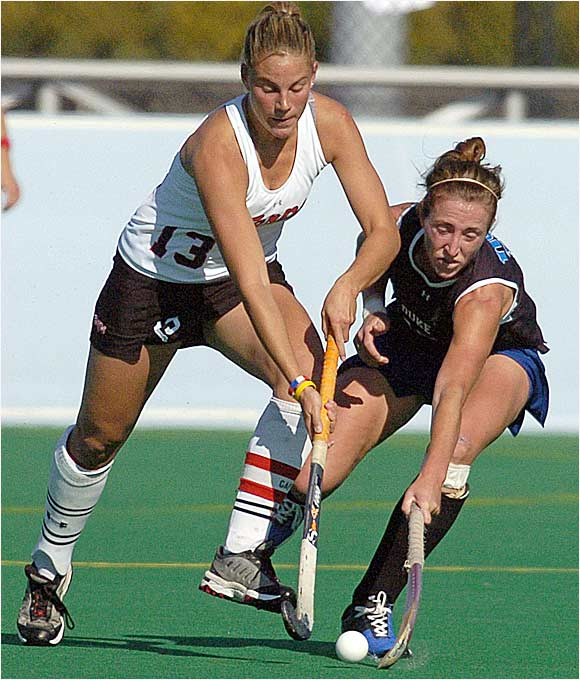 Maryland defeated rival Duke 1-0 to win the school's fourth field hockey championship. Junior midfielder Paula Infante was a rock for the Terps all season, winning National Player of the Year honors.