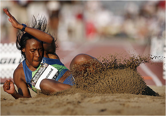Rose Richmond jumped 22 feet, 9 inches  to take the long jump title.
