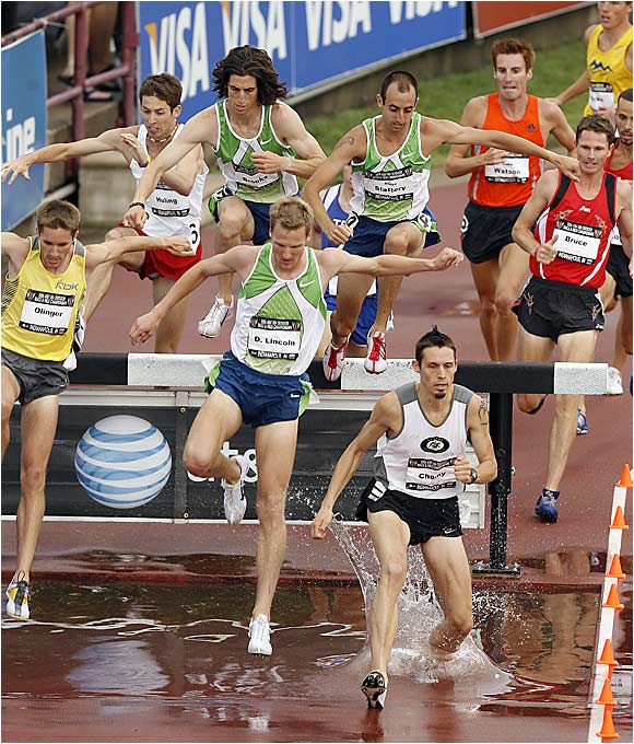 Daniel Lincoln won the 3,000 steeplechase on the last day of the championships.