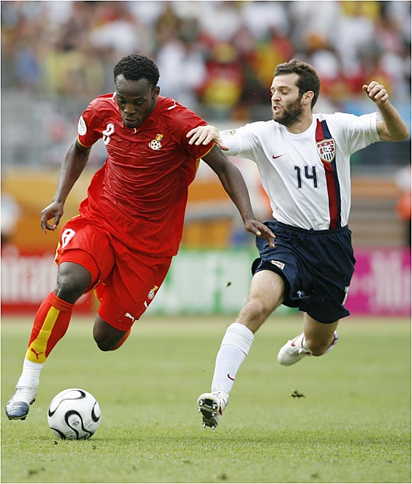 A week after The Black Stars stunned the Czech Republic, Michael Essien (left) and teammates were not nearly as impressive or assertive against the Americans.