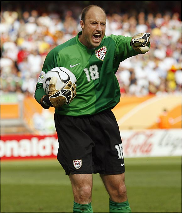 There was no shortage of passion from goal keeper Kasey Keller and the Americans. Still, the U.S. couldn't match its quarterfinal performance from 2002