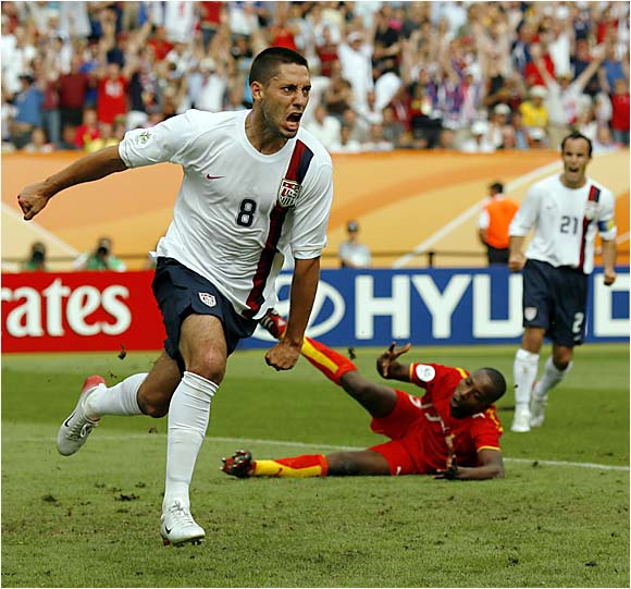 The Americans struggled to find offensive consistency throughout the World Cup. Before Dempsey's goal in the 43rd minute of Game 3, America's only other score had come in Game 2 against Italy, when an Italian player deflected the ball into the net. Poor offense was one of the reasons the US finished in the cellar of Group E.
