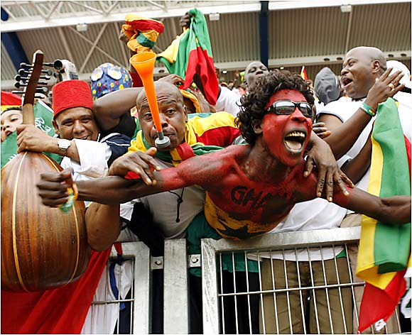 Ghanaian fans wasted no time going berserk for their beloved team, which finished second in Group E.