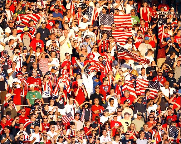 The U.S. fans were out in full force in Kaiserslautern for the crucial match against Italy.