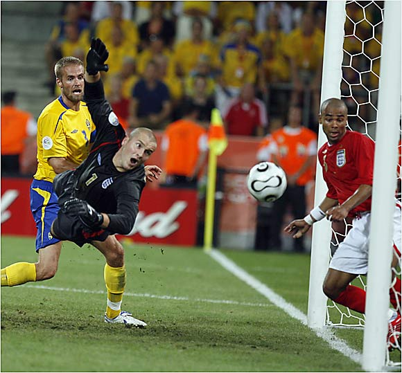 England appeared to be out of the woods until the 90th minute, when Henrik Larsson tied the game 2-2 with a throw-in that was slightly deflected. The dramatic goal prolonged the agony for England, which hasn't beaten Sweden since 1968. More bad news for England--striker Michael Owen will miss the rest of the World Cup due to a right knee injury.
