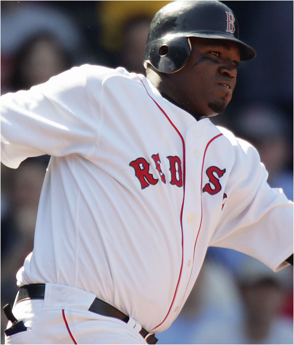 He's rightfully known as Big Papi -- and lesser so, as Cookie Monster. FenwayNation's Player of the Year for 2003, 2004, and 2005 underwent a breathtaking transformation from anonymity in Minnesota to clutch monster-masher in Boston. Ortiz has topped 40 taters and 130 ribbies in each of the past two seasons. Playing a large roll, er, role on Boston's 2004 World Series champions qualified him for sainthood.