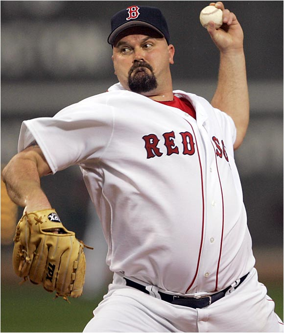 "Infamous for his oversized mouth and bellyful of nightlife, the portly port-sider (6' 3"", 248) is an outsized icon for the motorcycle rebel crowd. Boomer, who has 227 wins in 20 seasons and is now toiling in Beantown, made no secret that his hero (as in icon) is Babe Ruth and pitched a perfect game for the Yankees in 1998. ""He understands Yankee tradition. That's hard to say about a guy who looks like a beer-league softball player,"" George Steinbrenner noted to SI."