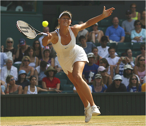 2004 champion Maria Sharapova advanced to Monday's round of 16 by beating American Amy Frazier 6-3, 6-2 on Saturday.