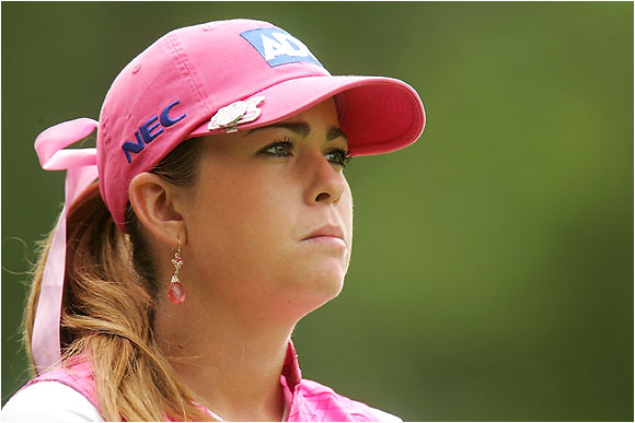 Coming off sterling rookie season, has been a disappointment in the first half of this year after getting smoked by Sorenstam in the final round in Mexico. Had early weekend times at both majors. Has been struggling with a slight sprain in her wrist the last month, which might be messing with her head. Will need to keep the ball in play to have any chance at Newport.