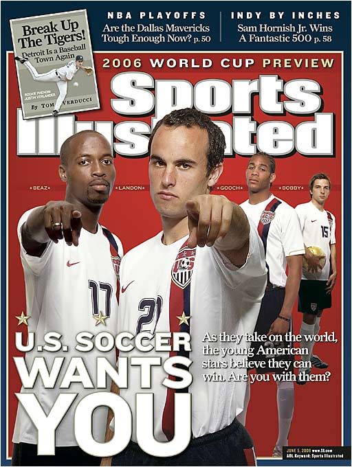 Team USA's steady march into the upper tiers of world soccer has been buoyed by young talent such as (from left) DaMarcus Beasley, Donovan, Oguchi Onyewu and Bobby Convey. The former U.S. Under-17 quartet is looking to take the national team where it has never been: the semifinals or beyond.