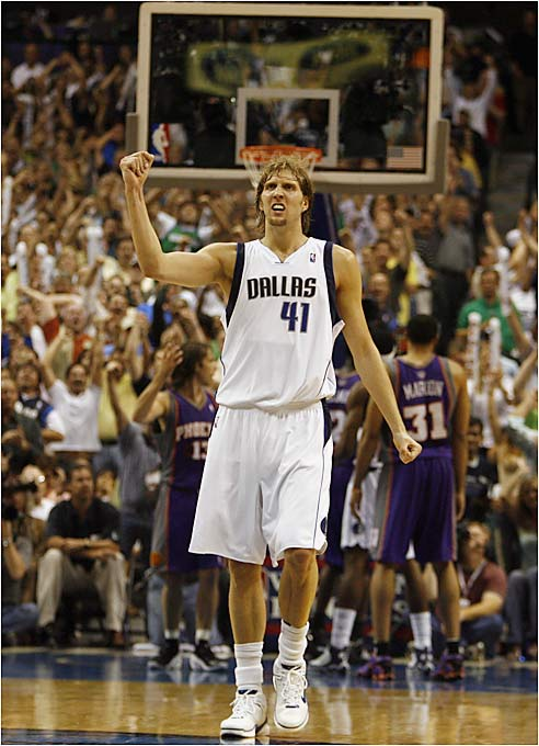 Since entering the league in 1980, Dallas has been to the playoffs 12 times, including three conference finals appearances. The team has radically changed from the group that nearly made the Finals in 2003. Only Avery Johnson (then a third-string point guard), sometimes-starter Adrian Griffin and all-world forward Dirk Nowitzki remain.