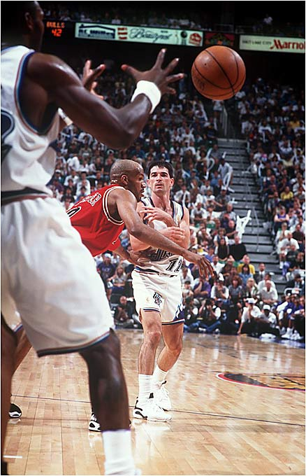 The league's premier also-rans, the Jazz won 50 games for seven straight seasons before winning 64 in 1996-97 and taking in their first Finals. Utah played Chicago tough but fell in six games.