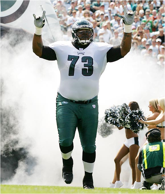 If he can control his weight, he's going to be very good. The Eagles' left guard is strong and fast when he's in shape and is probably the best player on Philly's offensive line. So far, so good this offseason in regard to his weight, but it's a long time until the season starts.