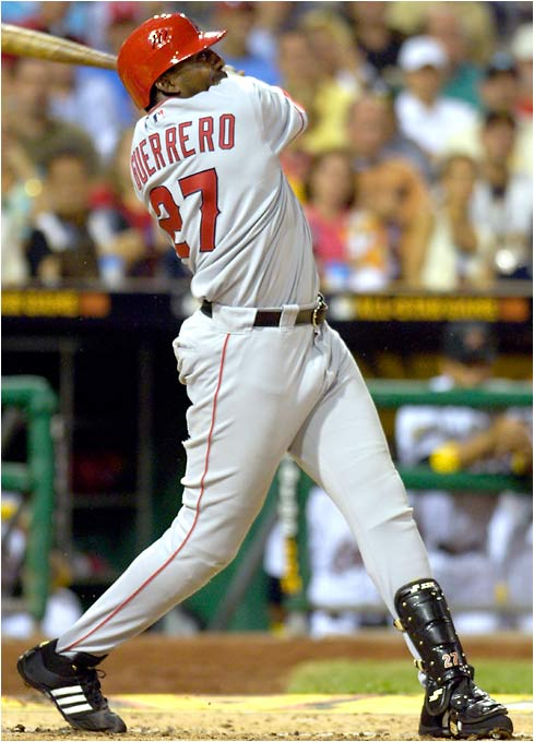 Vladimir Guerrero got the American League on the board first with a solo homer in the second inning.