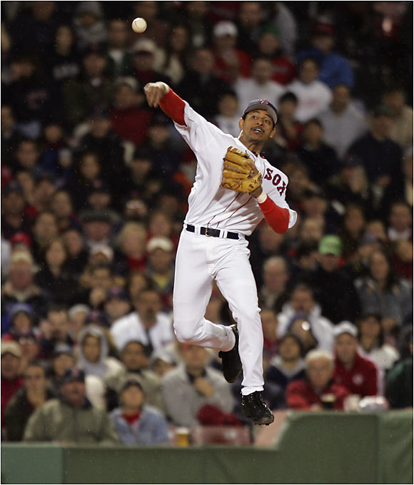He solidified the weak Boston infield defense and hit .294 to spark the Red Sox to their first World Series title since 1918. The move wasn't without controversy, though, as longtime Beantown hero Nomar Garciaparra was shipped to the Cubs.