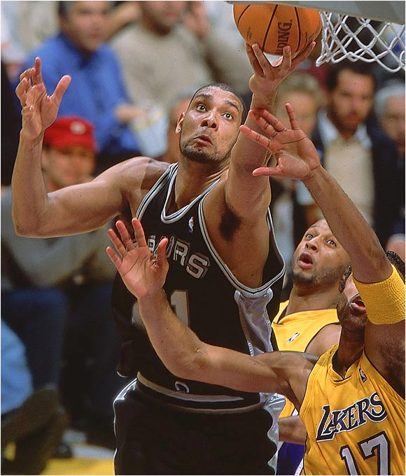 We can only guess what Duncan's motivations were in the summer of 2000, signing only a four-year deal while other players maxed out to the tune of six or seven seasons. We can tell you that it kept the San Antonio franchise on its toes. The front office made sound basketball decisions, such as refusing to commit big money to guys like Derek Anderson or Stephen Jackson.  By the time '03 rolled around, not only were the Spurs coming off another title, and not only was Duncan ready to re-sign for seven more seasons, but they had the cap space to make a run at Jermaine O'Neal or Jason Kidd. While those overtures didn't work, the Spurs at least were happy to lock Duncan up through his prime.