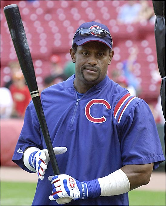 Sammy Sosa, once the cherubic Hercules of the Chicago Cubs, shattered that image when his bat shattered against the Devil Rays in 2003. The bat broke apart, and the cork hidden inside his bat peppered the infield grass. Sosa stated that he had mistakenly taken his BP/exhibition bat to the plate, but he earned a seven-game suspension. Little known fact: after his penalty was up, he went on to hit 40 home runs.