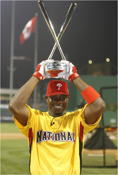 Ryan Howard made sure the Home Run Derby title stayed in Philadelphia for another year, as he repeated the feat of Phillies teammate Bobby Abreu.