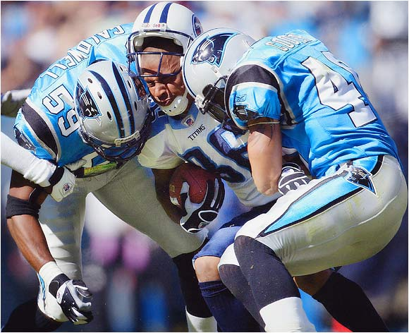 The Tennessee Titans playing the Carolina Panthers in Charlotte on Oct. 19, 2003.