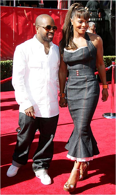 We can't recall Janet Jackson having dated any athletes, but she showed up at the ESPYs too, with boyfriend Jermaine Dupri.