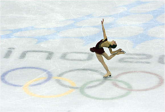 Sasha Cohen at the 2006 Olympic Games in Turin on Feb. 23, 2006.