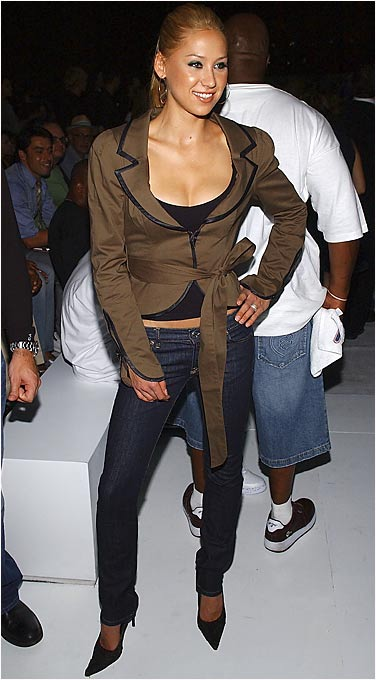 Kournikova attends a show at New York's Fashion Week in 2005.