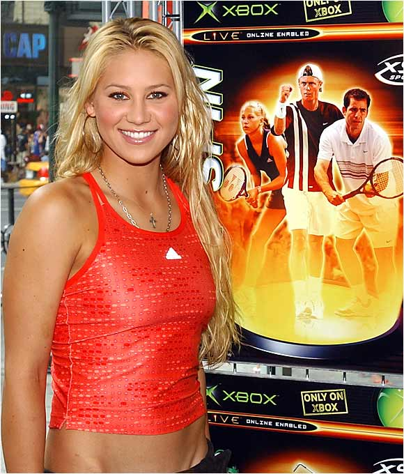 Anna Kournikova has done a fair share of promotional work, including this plug for Microsoft Xbox.