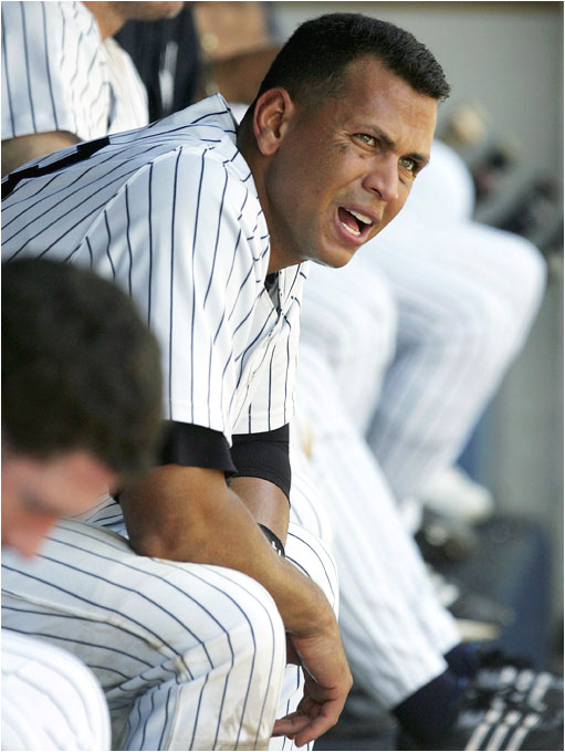 If ever a man has felt the pressure of high expectations, it is Alex Rodriguez, who has been consistently booed by Yankees fans all season despite becoming the youngest player ever to reach 450 home runs this week. Still, A-Rod also committed five errors in five games, and the two-time MVP is currently in a 4-for-27 slump.