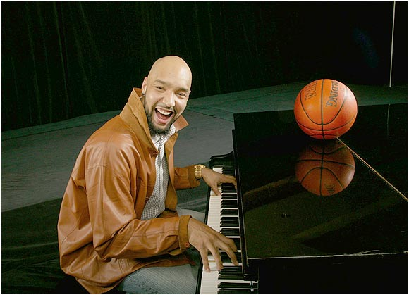 Cleveland Cavaliers forward Drew Gooden regales a crowd by tickling the ivories at the Four Seasons Hotel in Washington, D.C., last February.