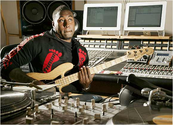 Ravens defensive tackle Trevor Pryce may seem like a behemoth on the gridiron (he is 6-foot-5 and weighs 286 pounds), but he has a soft touch in the studio. He owns the independent music label Outlook Music.
