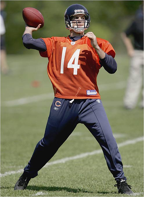 The Bears appear to be committed to Rex Grossman as their No. 1 guy, but Griese will likely get a shot before long because of Grossman's persistent injury problems. Griese had excellent individual years with the Broncos and the Bucs, but overall his career has been marked by inconsistency. Fortunately for him, Chicago's offense is similar to the ones he led in Denver and Tampa Bay.