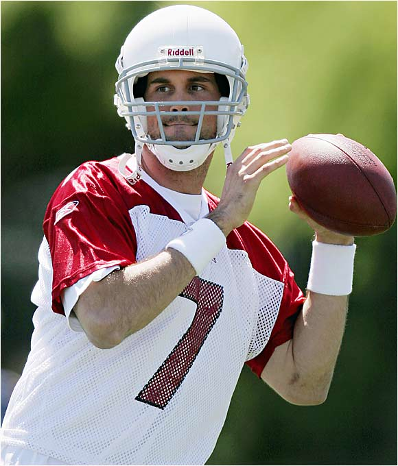 Coach Dennis Green says Kurt Warner is the starting quarterback, and he means it. But Warner has had durability issues, and Leinart has a good chance to get on the field in what should be a fairly potent offense. Going into the draft, Leinart was considered the most NFL-ready quarterback. Some questioned his arm strength, but the Cardinals had no complaints during minicamps.