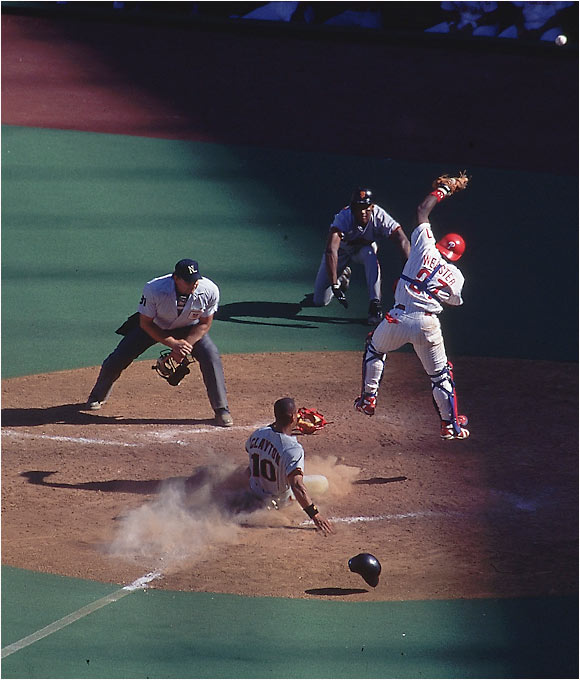 The San Francisco Giants playing the Philadelphia Phillies on Aug. 20, 1995.