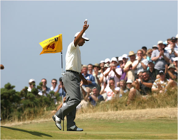 Think Tiger's all about driving and putting? Think again. His iron play, especially with the long irons, was never better than at Royal Liverpool. The signature shot came in the second round, when he holed a 4-iron from 209 yards out for an eagle on the 14th hole. Tiger didn't see the shot go in -- but he knew where to find the ball.