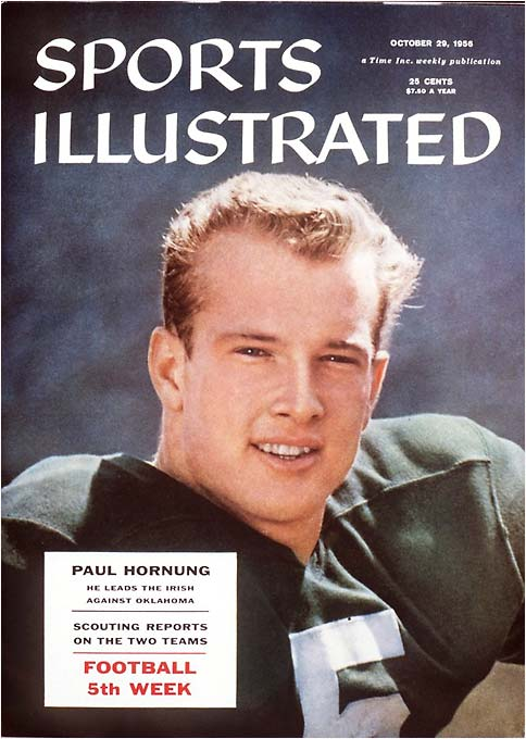 If there was ever a Captain America for the country's heartland, then the Golden Boy certainly qualified in his heyday. A Notre Dame Heisman Trophy winner and a star for the world champion Green Bay Packers, Hornung busting through the seam of Vince Lombardi's power running attack defined the NFL in the '60s.
