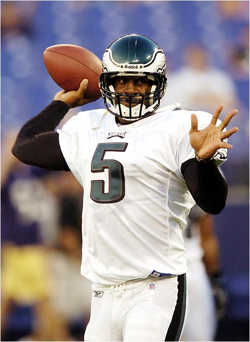 Unlike a couple of other football players on this list, McNabb was able to take his college number with him to the next level in Philly. Booed on draft day by the always fun-loving Eagles fans, McNabb has proven his worth time and again by combining outstanding athleticism with enough guts to earn the respect of this blue-collar town.