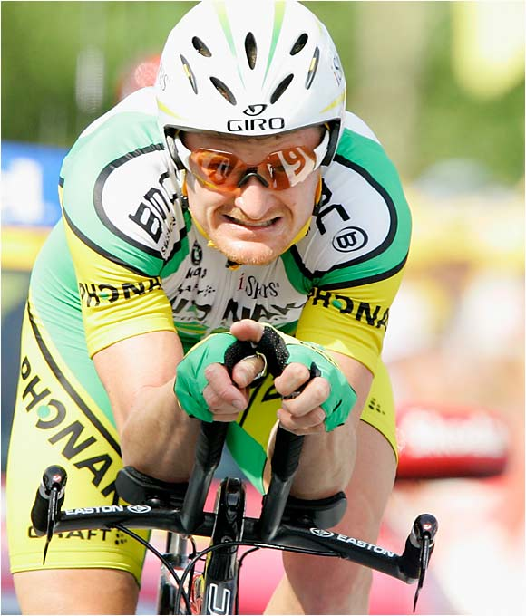 The 30-year-old Landis, pedaling with an injured hip, became the third American -- joining Lance Armstrong and three-time winner Greg LeMond -- to win the Tour.