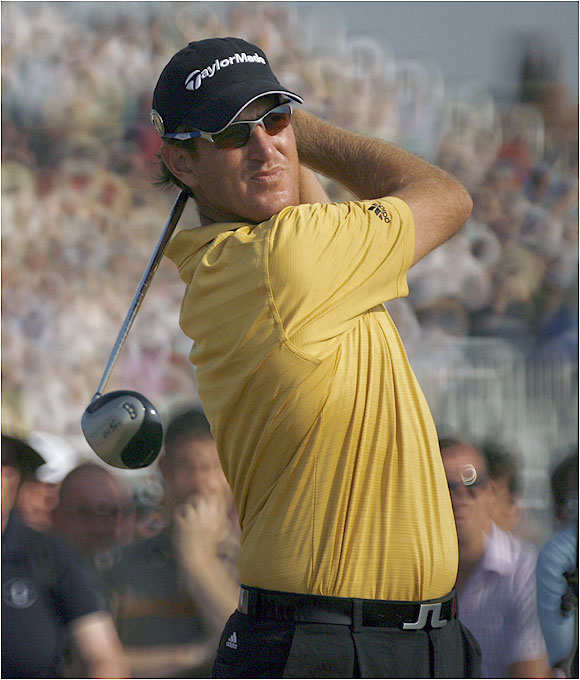 Greg Owen is one of 15 players, along with Mickelson and David Duval, who are eight shots off the lead.