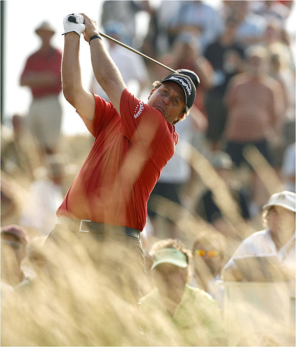 Phil Mickelson finished the second round with a 71 to trail by eight strokes.