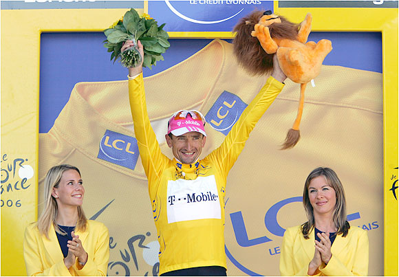 Gontchar, who led through Stages 7, 8 and 9, was the first Ukranian to lead the race in its 103-year history.
