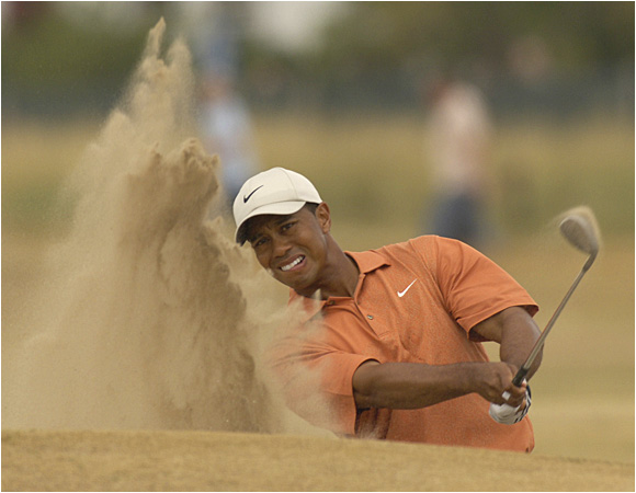 Tiger Woods, who is searching for his third Claret Jug, entered the third round with a one-stroke lead over Ernie Els.