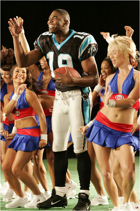 Keyshawn Johnson broke his no-dancing-in-commercials rule. 'The girls had such energy, I started rolling with it,' he said -- though he refused to sing.