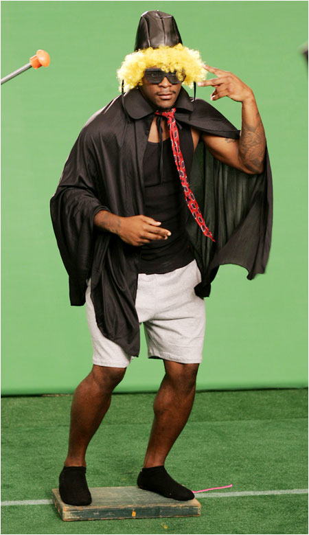 The chameleonlike Clinton Portis wore four outfits in a six-hour shoot.
