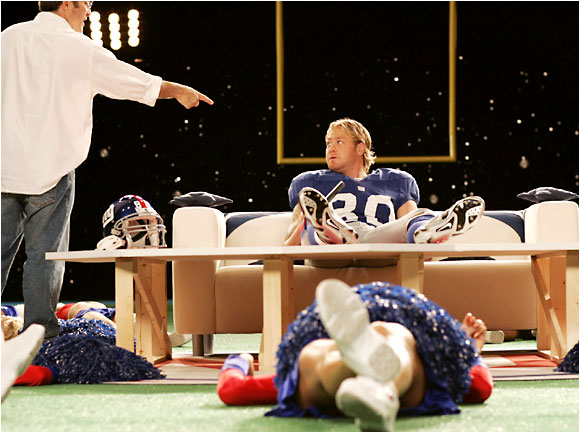 Jeremy Shockey balked when a stylist offered a curling iron, saying, 'Hey, I'm a football player.'