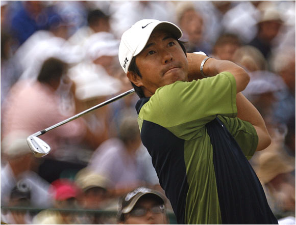 One of the first-round surprises was Keiichiro Fukabori, who fired a 5-under 67 to get within one stroke of leader Graeme McDowell.